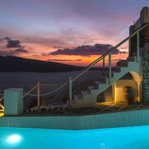 Luxury Greece Holiday Packages Oia Mare Villas Pool Lights