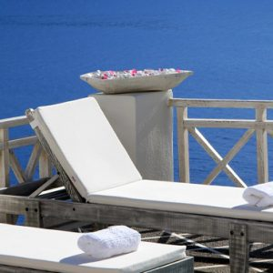 Luxury Greece Holiday Packages Oia Mare Villas Sun Beds