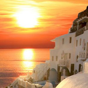 Luxury Greece Holiday Packages Oia Mare Villas Sun Set