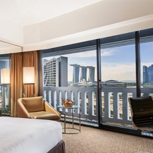 Luxury Singapore Holiday Packages PARKROYAL On Marina Bay Premier Marina Bay View Room Bedroom