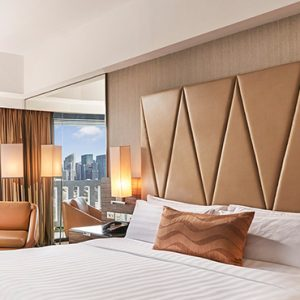 Luxury Singapore Holiday Packages PARKROYAL On Marina Bay Premier Room Bedroom