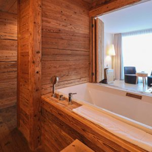 Luxury Switzerland Holiday Packages Guarda Val Farmer Room Bathroom