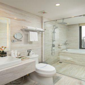 Luxury Vietnam Holiday Packages The Oriental Jade Hotel Diamond Church View Room Bathroom