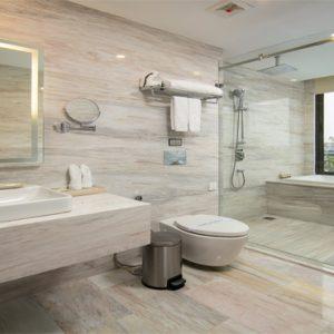 Luxury Vietnam Holiday Packages The Oriental Jade Hotel Gem Suite Lake View Bathroom