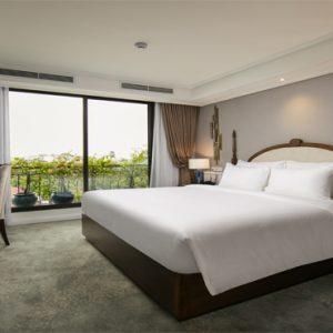 Luxury Vietnam Holiday Packages The Oriental Jade Hotel Gem Suite Lake View Bedroom