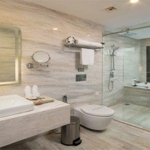 Luxury Vietnam Holiday Packages The Oriental Jade Hotel Oriental Jade Suite With Terrace Bathroom