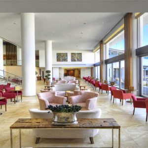 Luxury Cyprus Holiday Packages Olympic Lagoon Resort Paphos Grand Lobby & Terrace