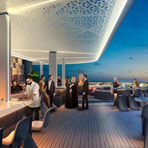 Luxury Dubai Holidays JA Lake View Hotel Bibe Roof Top Bar Restaurant