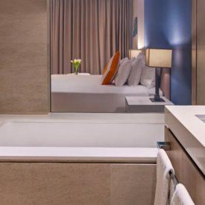 Luxury Dubai Holidays JA Lake View Hotel Deluxe Resort Course View Bathroom