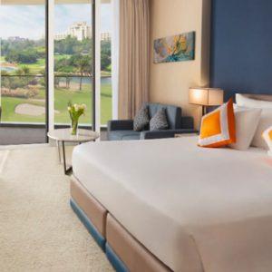 Luxury Dubai Holidays JA Lake View Hotel Deluxe Resort Course View Bedroom