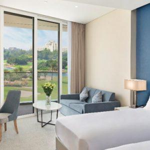 Luxury Dubai Holidays JA Lake View Hotel Deluxe Resort Course View Bedroom 2