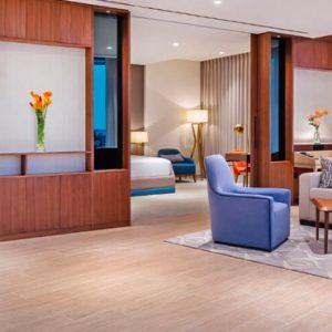 Luxury Dubai Holidays JA Lake View Hotel Luxury One Bedroom Suite Living Room