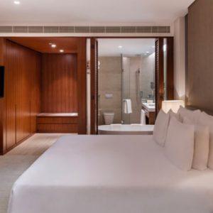 Luxury Dubai Holidays JA Lake View Hotel Luxury One Bedroom Suite Bedroom