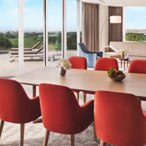 Luxury Dubai Holidays JA Lake View Hotel Luxury Two Bedroom Suite Living Room