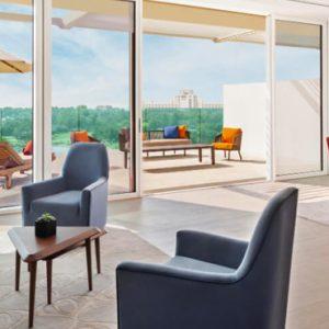 Luxury Dubai Holidays JA Lake View Hotel One Bedroom Terrace Suite Living Room