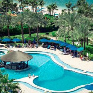 Luxury Dubai Holidays JA Lake View Hotel Poolside Bar Restaurant