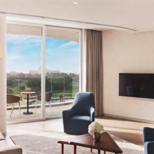 Luxury Dubai Holidays JA Lake View Hotel Resort Course One Bedroom Suite Living Room