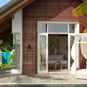Luxury Maldives Holidays Fairmont Maldives Sirru Fen Fushi Beach Sunset Villa