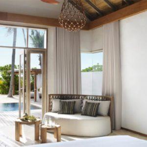 Luxury Maldives Holidays Fairmont Maldives Sirru Fen Fushi Deluxe Beach Sunset Villa