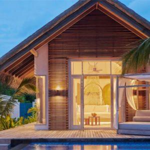 Luxury Maldives Holidays Fairmont Maldives Sirru Fen Fushi Deluxe Beach Sunset Villa 1