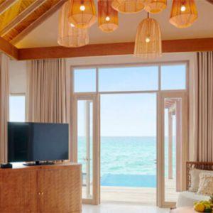 Luxury Maldives Holidays Fairmont Maldives Sirru Fen Fushi Three Bedroom Water Sunset Villa