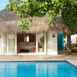 Luxury Maldives Holidays Fairmont Maldives Sirru Fen Fushi Two Bedroom Beach Sunset Villa 1