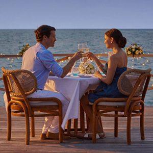 Luxury Maldives Holidays Fairmont Maldives Sirru Fen Fushi Water Pavillion Romantic Dinner