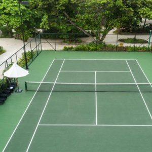 Luxury Maldives Holidays Fairmont Maldives Sirru Fen Fushi Tennis