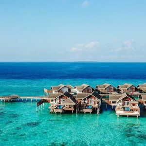 Luxury Maldives Holidays Fairmont Maldives Sirru Fen Fushi Water Villas Side View