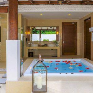Luxury Maldives Holidays Hideaway Beach Resort Deluxe Sunset Beach Villa Pool 1