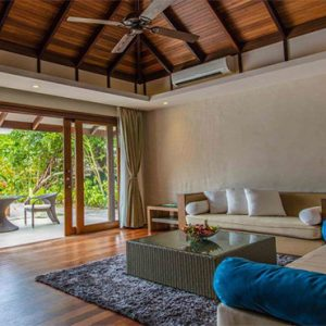 Luxury Maldives Holidays Hideaway Beach Resort Deluxe Sunset Beach Villa Pool 3