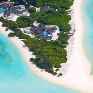 Luxury Maldives Holidays Hideaway Beach Resort Aerial View