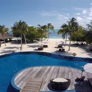 Luxury Maldives Holidays Hideaway Beach Resort Aerial View Pool