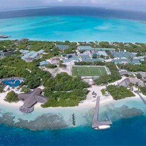 Luxury Maldives Holidays Hideaway Beach Resort Aerial View1