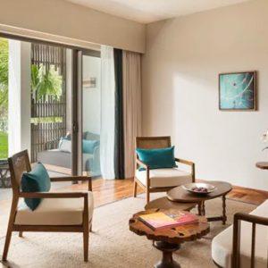 Luxury Mauritius Holiday Packages Anantara Iko Luxury Mauritius Resort & Villas Garden View Suite Living Room View