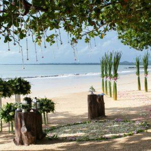 Luxury Thailand Holidays The Sarojin Beach Wedding Setup