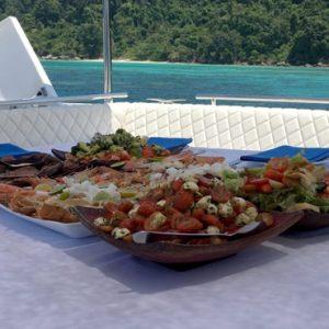 Luxury Thailand Holidays The Sarojin Food On Cruise1