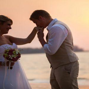 Luxury Thailand Holidays The Sarojin Wedding Couple On Beach1