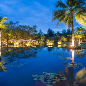 Luxury Thailand Holidays The Sarojin Pool Feature At Night