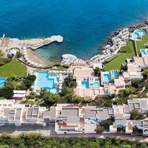 Aerial View St Nicolas Bay Resort Hotel & Villas Greece Holidays