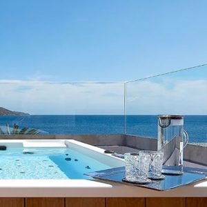 Club Suite Outdoor Heated Jacuzzi Seafront View St Nicolas Bay Resort Hotel & Villas Greece Holidays