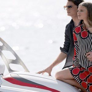 Couple On Yacht St Nicolas Bay Resort Hotel & Villas Greece Holidays