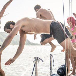 Couple On Yacht1 St Nicolas Bay Resort Hotel & Villas Greece Holidays