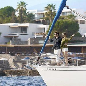 Couple On Yacht2 St Nicolas Bay Resort Hotel & Villas Greece Holidays