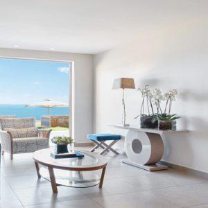 Deluxe Two Bedroom Bungalow Suite Beachfront Ikos Olivia Resort Greece Holidays