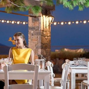 Private Dining St Nicolas Bay Resort Hotel & Villas Greece Holidays