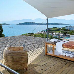 Outdoor Poseidon Spa Massage St Nicolas Bay Resort Hotel & Villas Greece Holidays