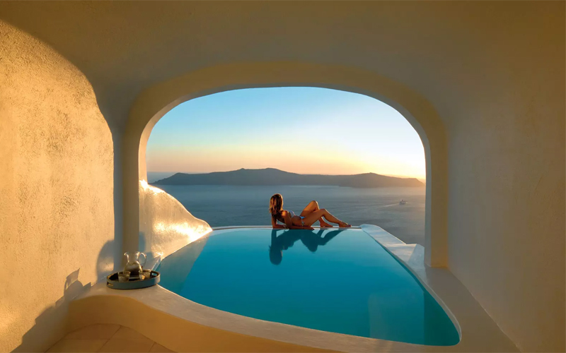 Sun Rocks Hotel Santorini Pool Suite The Best Balcony Views Around The World