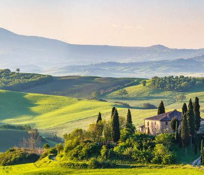 a picture of Tuscany